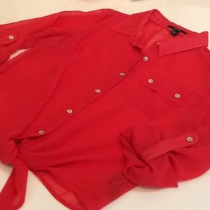 Forever 21 Tops - Red blouse